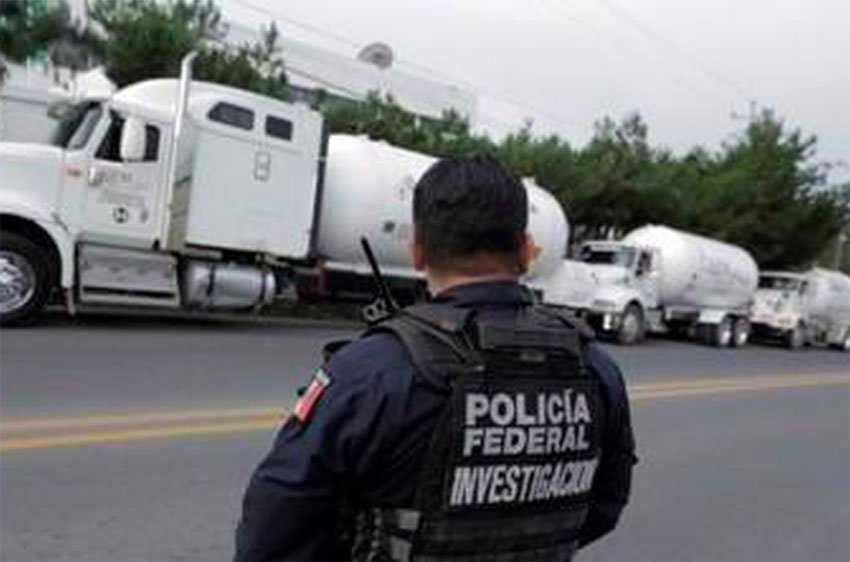 Nine tanker trucks were seized in the operation.
