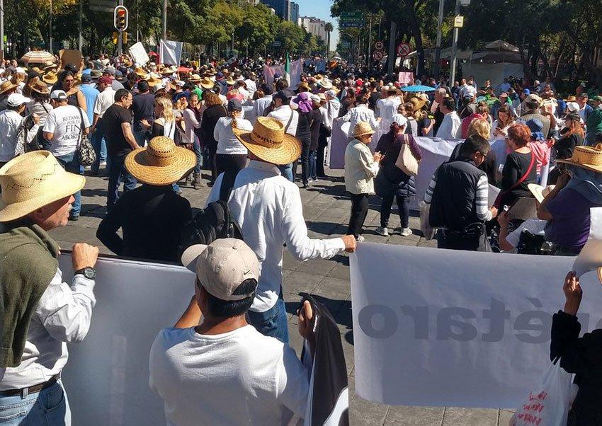 Anti-AMLO protest in Mexico City.
