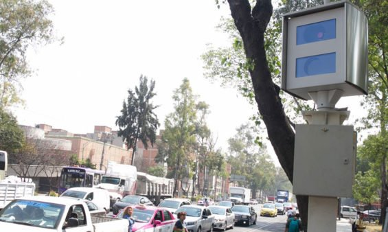 Photo radar in Mexico City: get caught speeding and lose points rather than pay a fine.