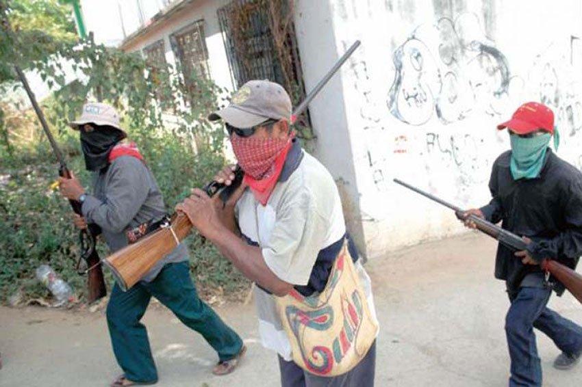 Self-defense militia on the move in Guerrero.