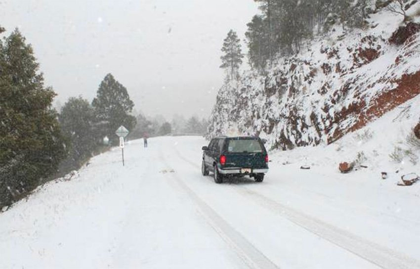 Snow in Chihuahua yesterday.