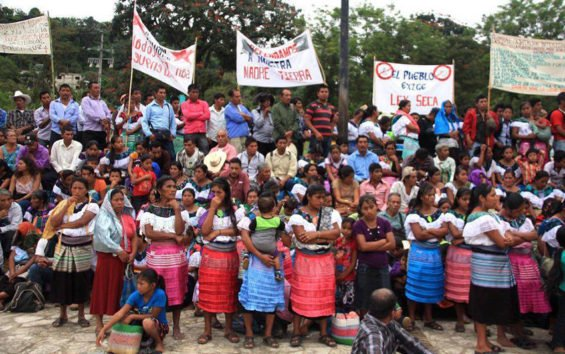 Indigenous women in Chiapas at a protest march against the Maya Train November 25.