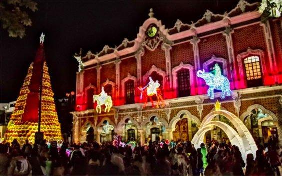 Tehuacán's Christmas display.