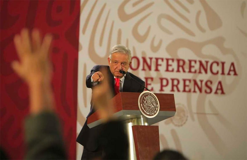 López Obrador said at this morning's press conference that the border wall has never come up in talks with US President Trump.