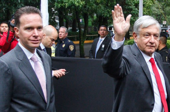 Velasco, left, will have bodyguards for 15 years but López Obrador, right, does without.