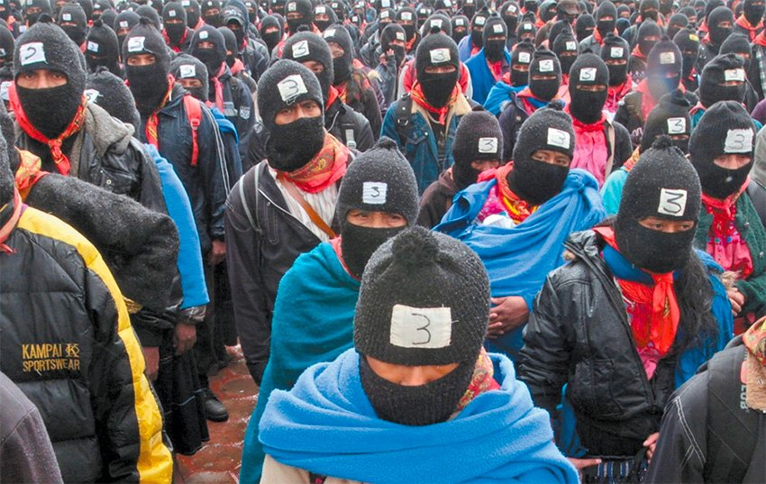 Zapatistas and indigenous groups create Networks of Resistance and Rebellion.