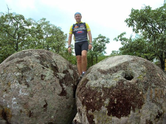 Two of the great stone balls in the Sierra de Ameca, Jalisco.