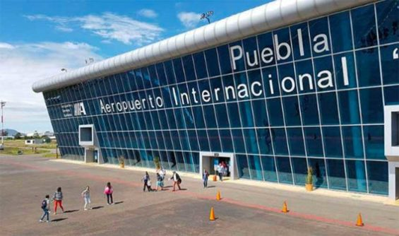 Puebla International Airport, where traffic was up 40%.