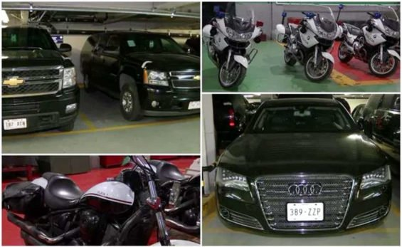 Some of the vehicles to be sold at auction in February.