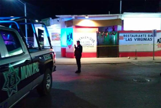 The Playa del Carmen bar where last night's attack took place.