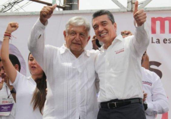 López Obrador and Chiapas Governor Escandón.
