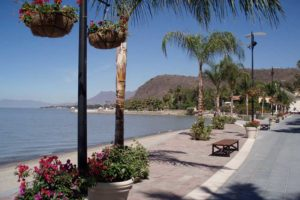 The malecón in Chapala, one of Mexico's popular destinations for retirees.