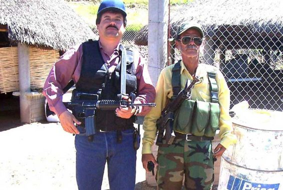 El Chapo, left, back in the day.