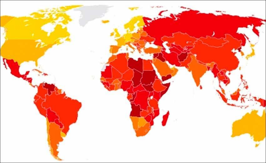transparency international map