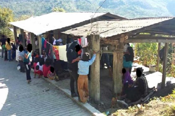 Camp of people displaced in Chiapas.