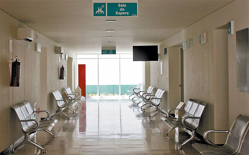 An empty hospital in Luvianos, México state.