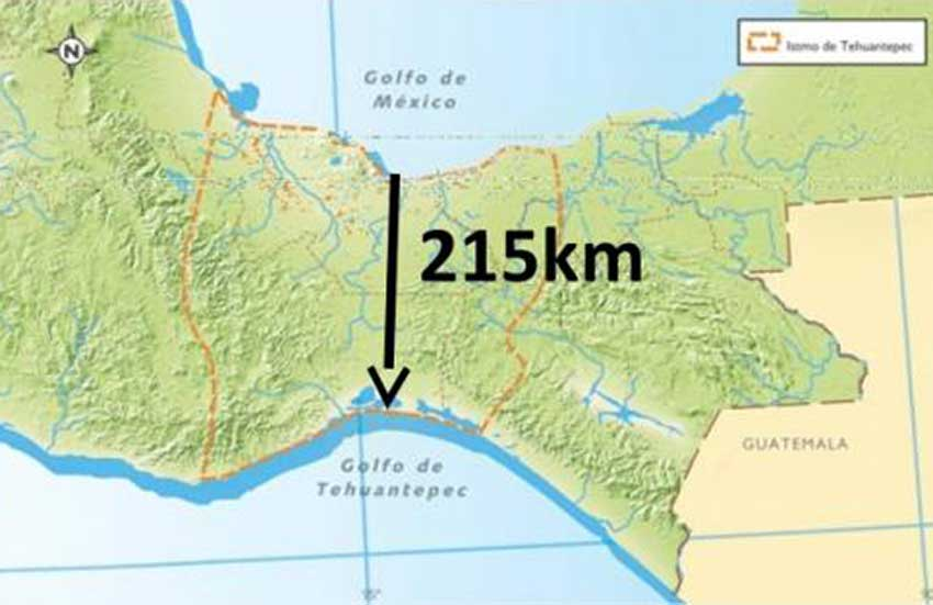 The Isthmus of Tehuantepec, where infrastructure improvements are to begin this year.