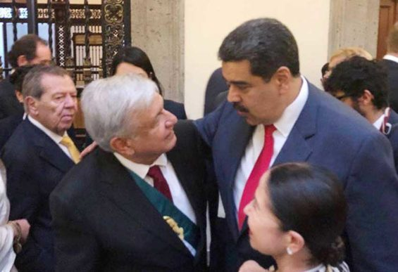 AMLO and Maduro at the former's December inauguration.