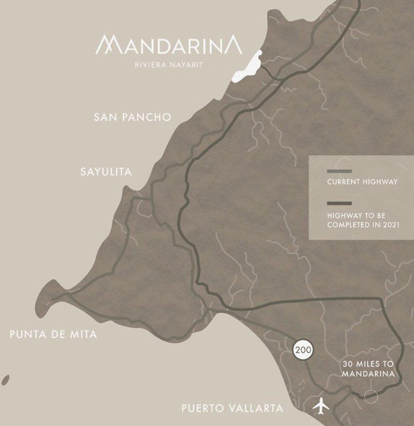 Location of the Riviera Nayarit's Mandarina project.