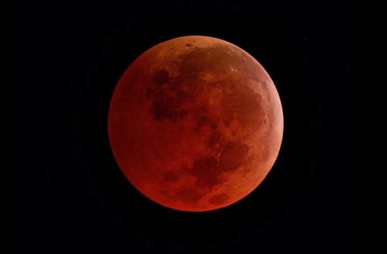 The blood moon will be visible from Mexico on Sunday night.