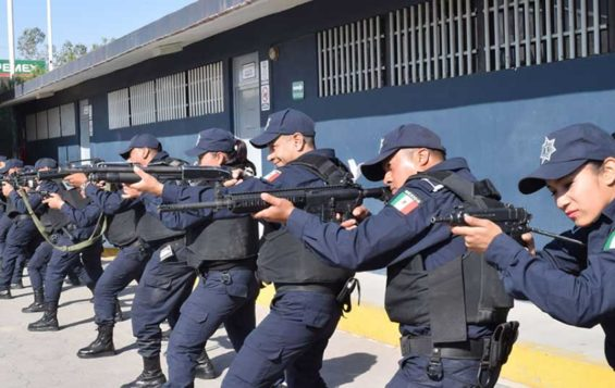 Officers in training at the Irapuato police academy.