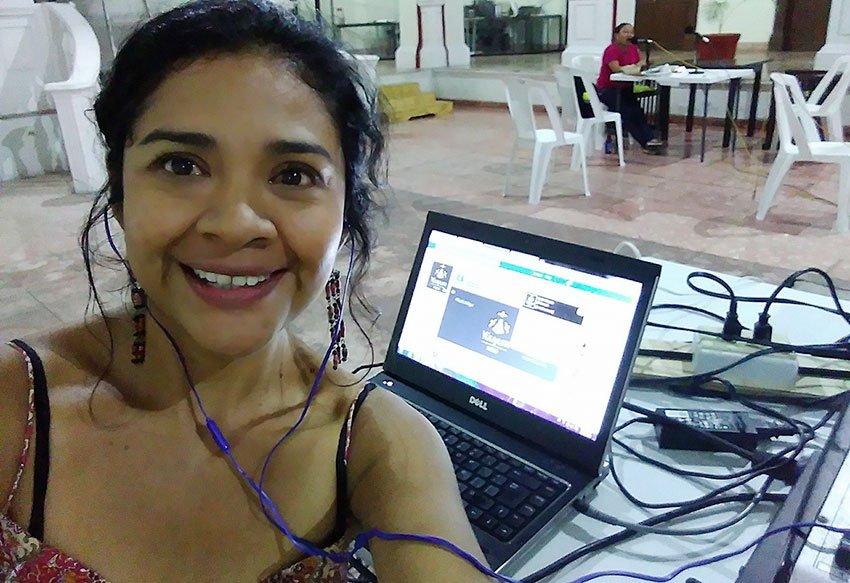 Mayan language activisit Yazmín Novelo of Radio Yuuyum.
