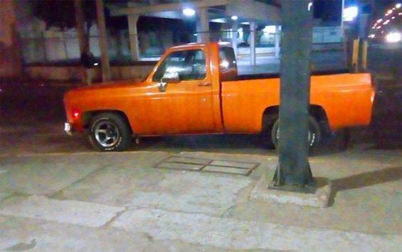 The truck found near the Salamanca refinery.