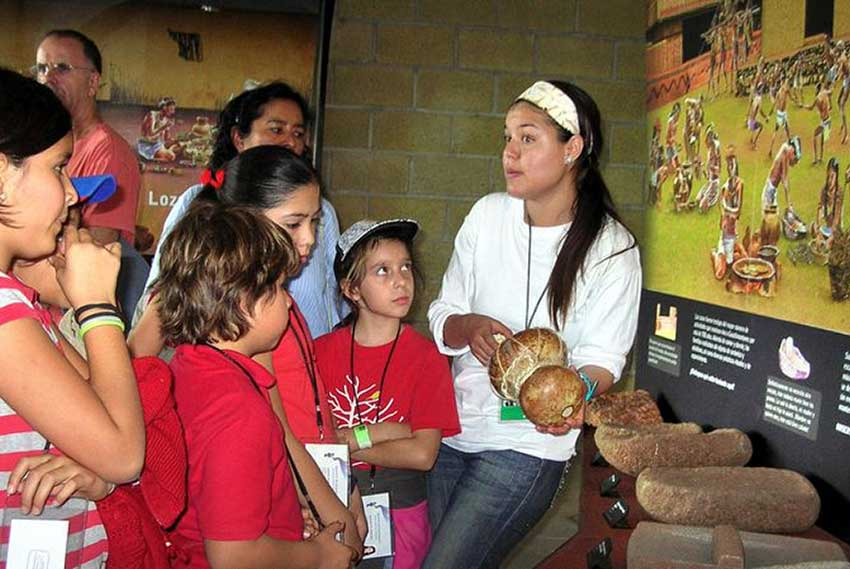Visitors to the Guachimontones museum learn about daily life of the pyramid builders.