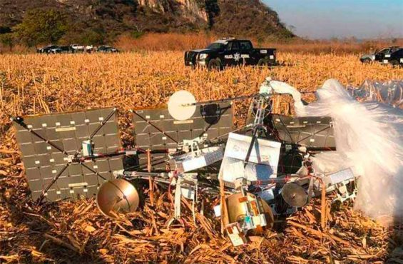 The internet balloon that came down in Morelos.
