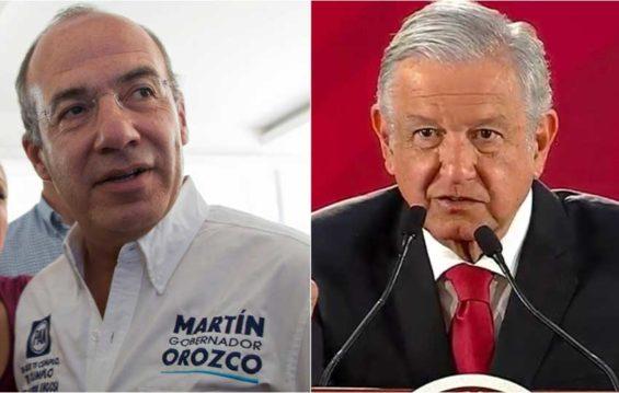 Calderón, left, and López Obrador.