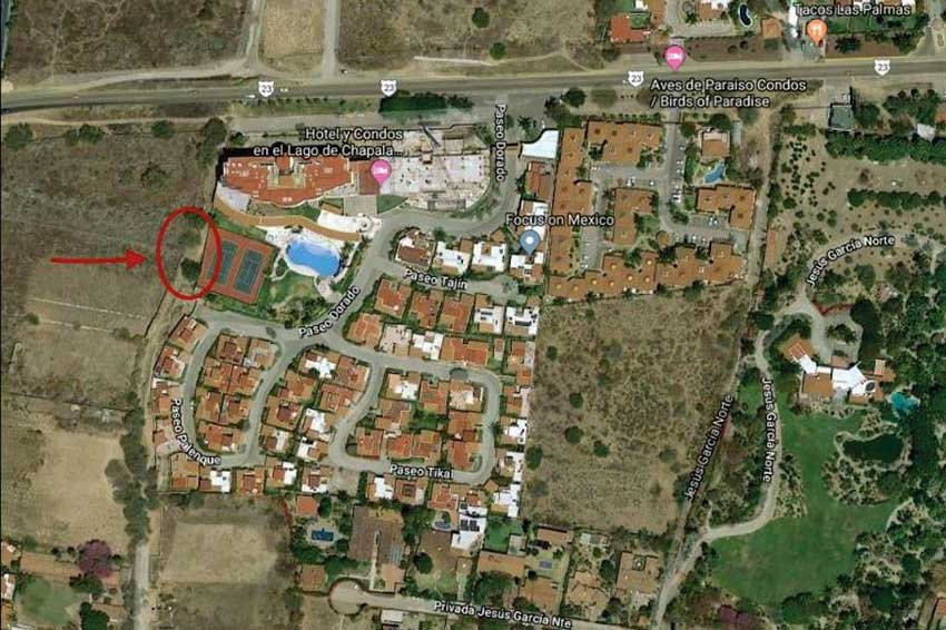 Location of Friday's shooting in Chapala.