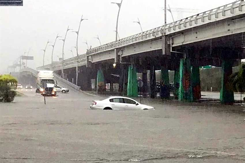Flooding yesterday in Playa del Carmen.