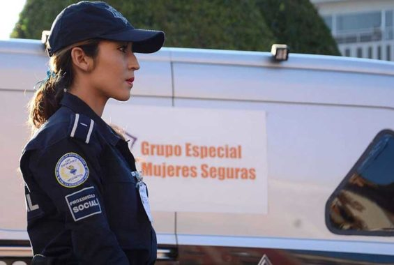A municipal police officer in León, Guanajuato.