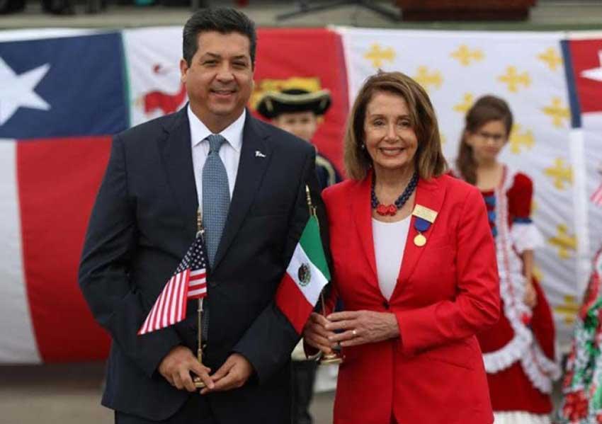 García and Pelosi celebrate the bilateral relationship.