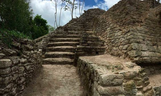 The Ichkabal archaeological site in Quintana Roo.