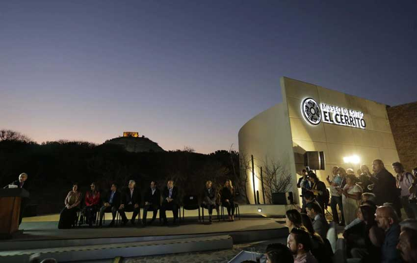 Opening ceremony at the new museum in Querétaro.