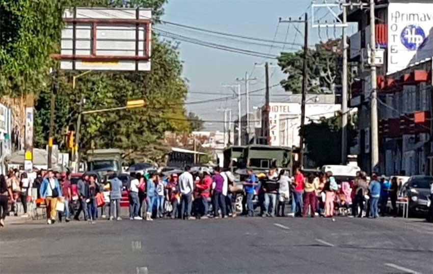 Anti-Oxxo protesters in Oaxaca.