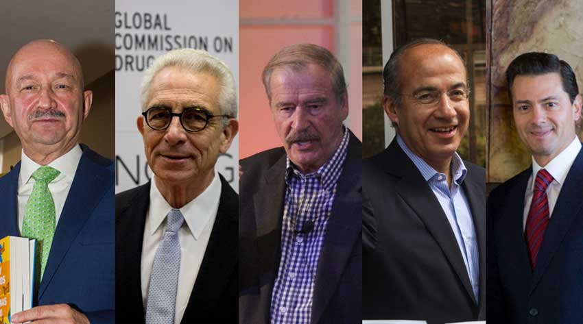AMLO's alleged pillagers: Sallinas, Zedillo, Fox, Calderón and Peña Nieto.