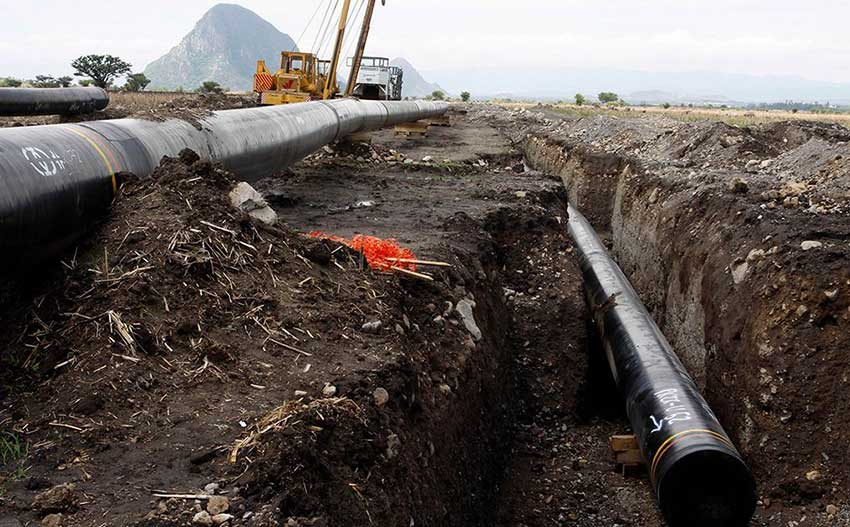 Pipeline under construction: some of have been halted by local opposition.