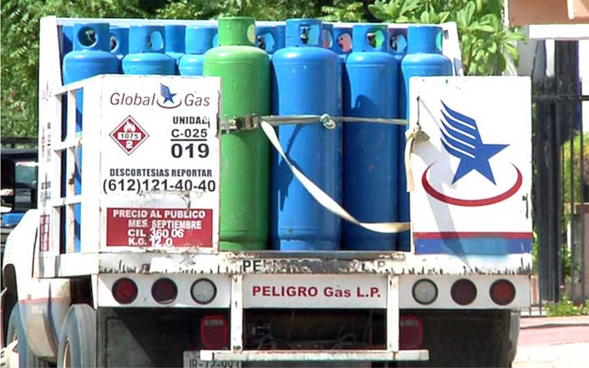 Propane is being rationed in Baja California Sur.