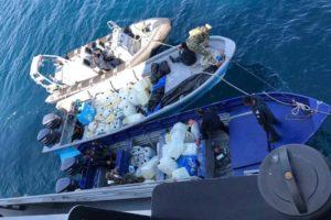 Smugglers' boats found off coast of Oaxaca.