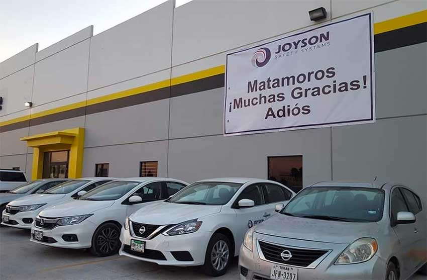 Auto parts manufacturer Joyson says goodbye to Matamoros.