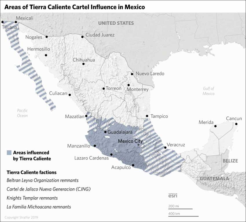 tierra caliente cartel influence