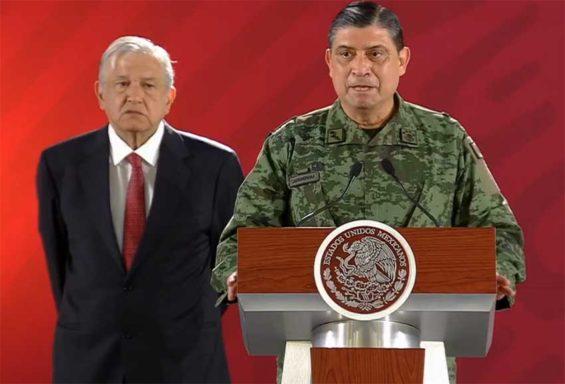 National Defense Secretary Luis Cresencio Sandoval describes Tijuana's new security strategy this morning.