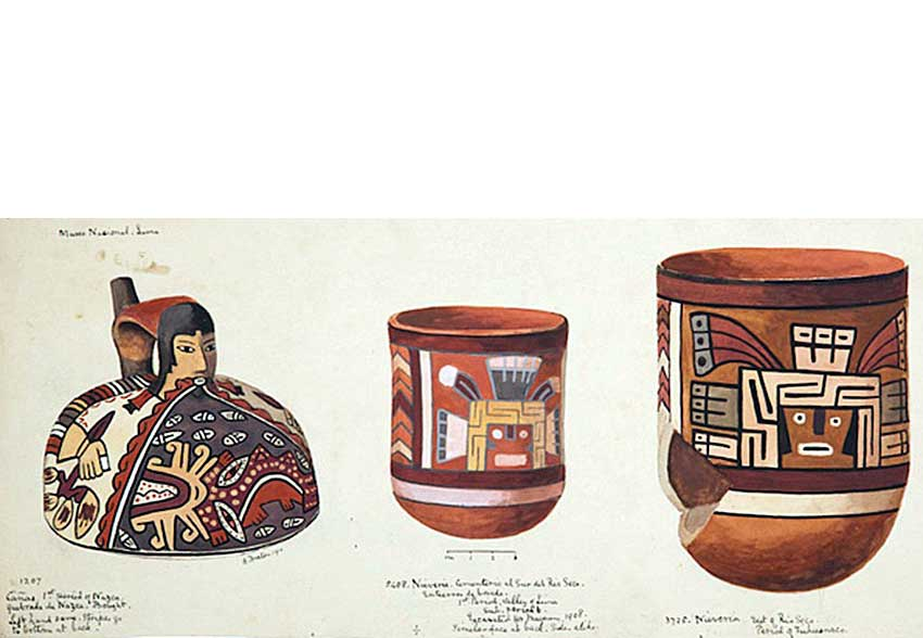 14—Q-Watercolour-of-two-pots-in-Museo-Nacional-Lima-Peru-1910