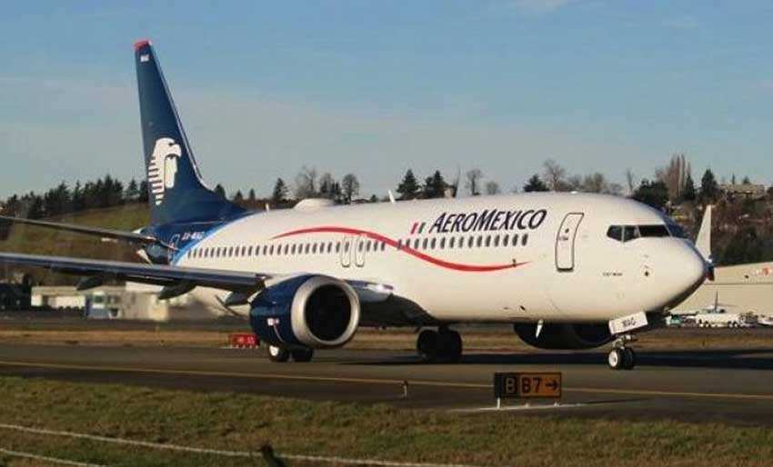One of eight of the new planes in the Aeroméxico fleet.