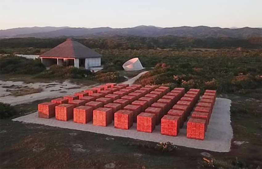 Atlantes, the new art installation at Casa Wabi, Oaxaca.