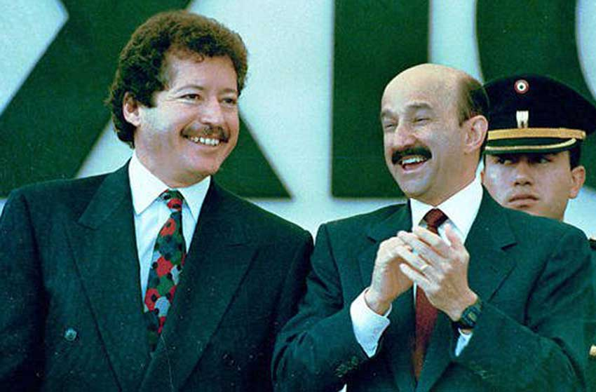 Colosio, left, and then-president Salinas.