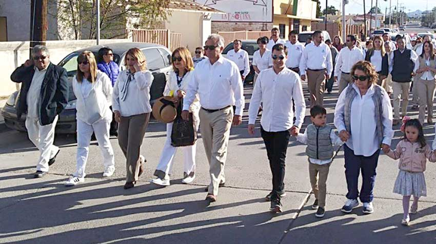 Colosio's family at a procession in his memory in his Sonora home town.