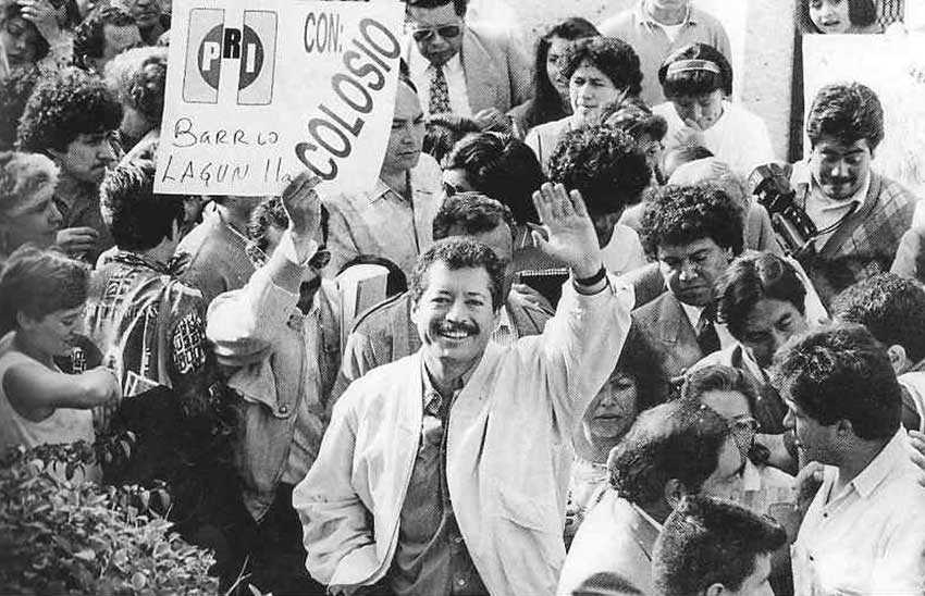 Luis Donaldo Colosio at the Tijuana rally where he was murdered on March 23, 1994.